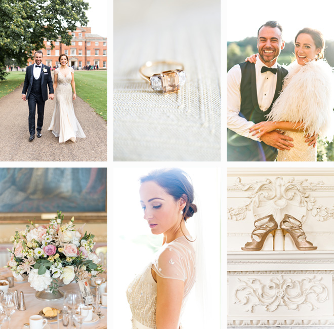 Luxury Brocket Hall Wedding Photographer Jenny Packham Dress