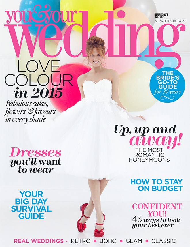 You & Your Wedding magazine cover Sept/Oct
