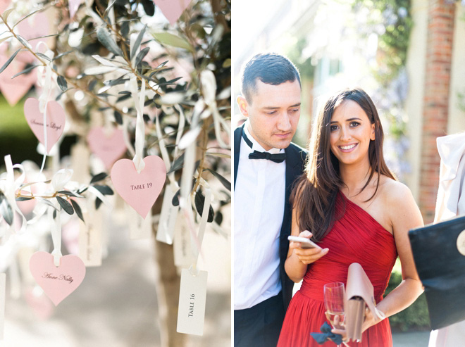 pink-heart-escort-card-hanging-from-tree-anushe-low-photography