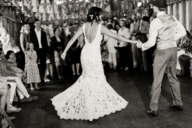 Claire Pettibone fishtail wedding dress