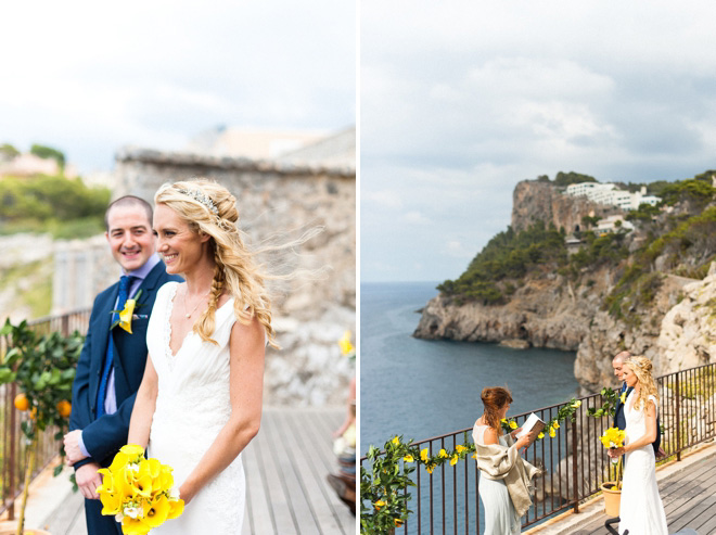 destination wedding cliffs backdrop