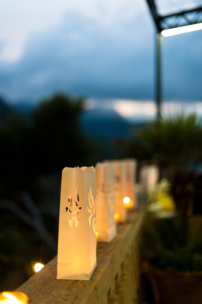 destination wedding candles photos