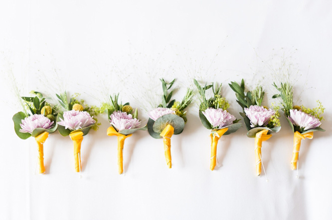 Buttonholes by Flower Power florist