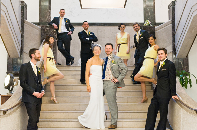Town Hall Hotel Wedding creative wedding formal photos
