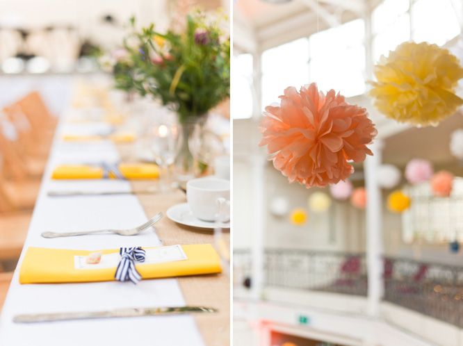 Colourful summer London wedding
