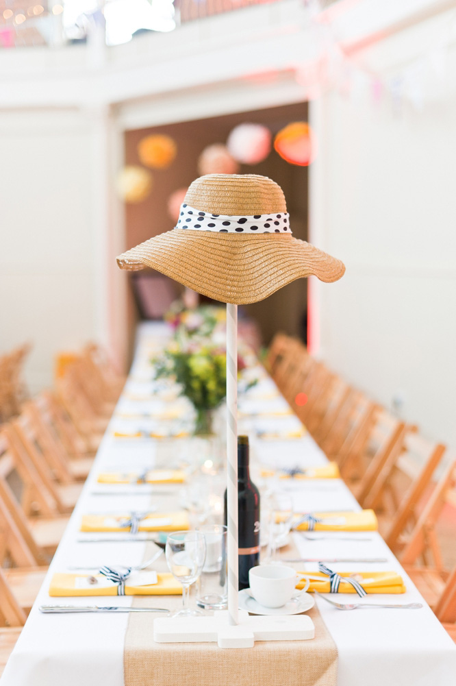 DIY Wedding decor with hats
