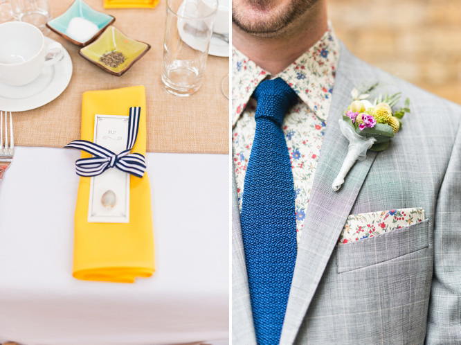Wedding with yellow decor