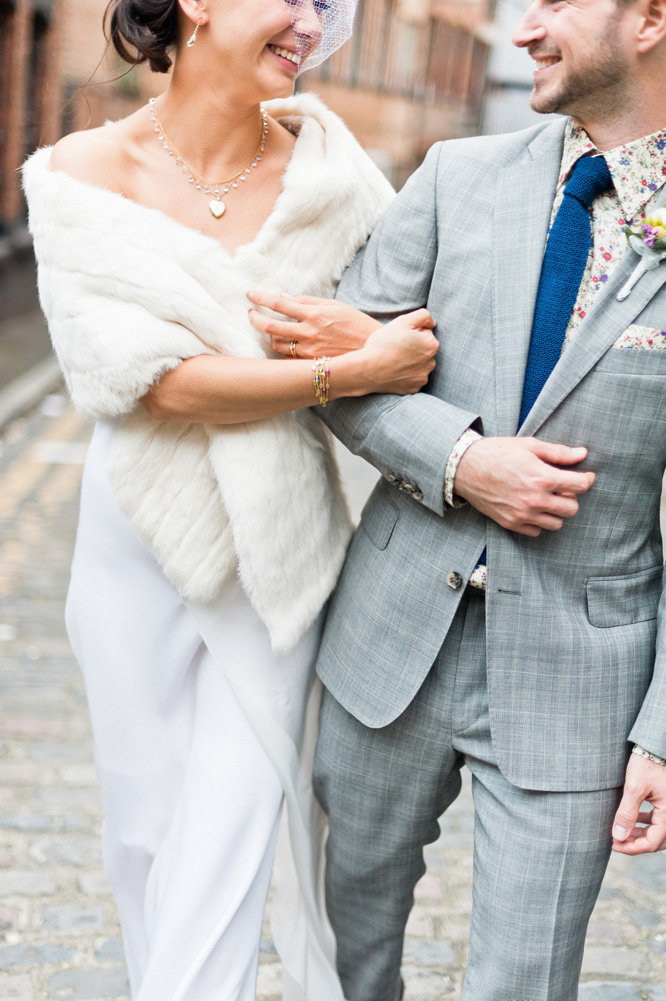 Amanda Wakely wedding gown & bespoke groom's suit