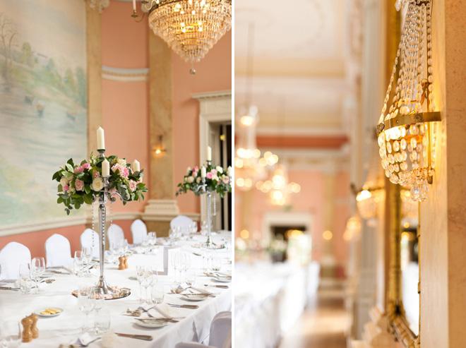 Danesfield House wedding chandeliers