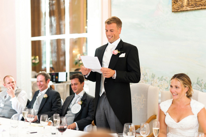 Danesfield House wedding speeches