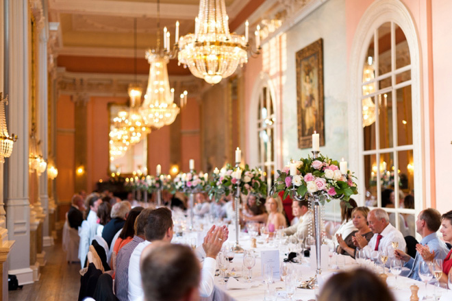 Danesfield House wedding breakfast Versailles Suite