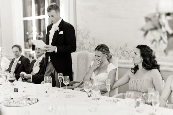 Danesfield House wedding speeches photography