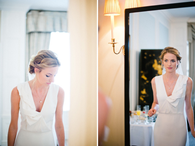 bride getting ready at the connought hotel mayfair