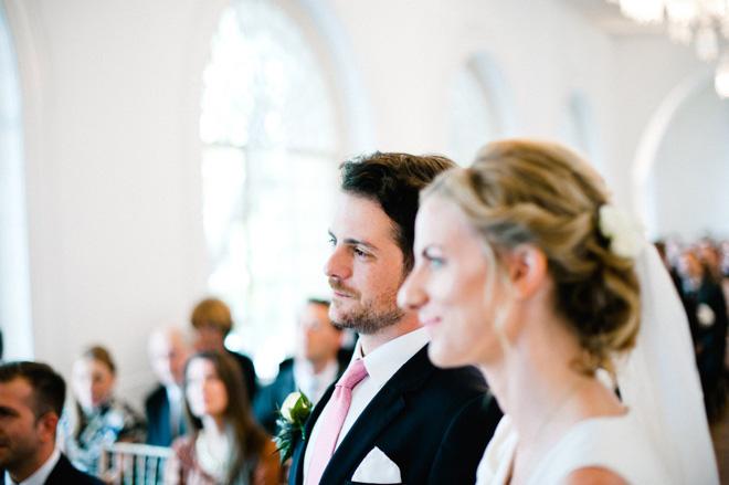 handsome groom at one marylebone wedding ceremony