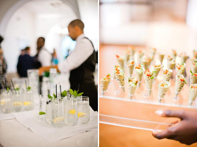 wedding canapés and drinks one marylebone