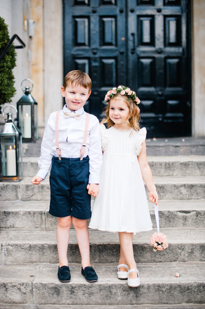 page boy and flower girl at one marylebone wedding
