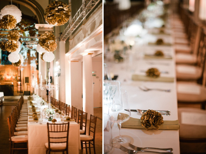 weddng decor with pom pons at one marylebone london