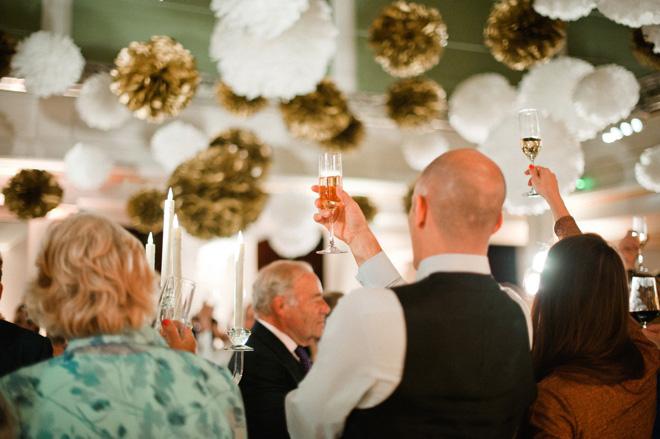 toast at one marylebone wedding